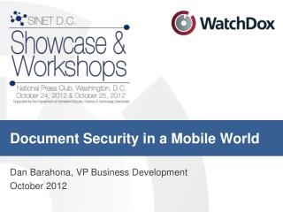 Document Security in a Mobile World