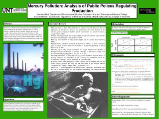 Mercury Pollution: Analysis of Public Polices Regulating Production