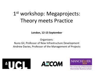 1 st  workshop: Megaprojects: Theory meets Practice