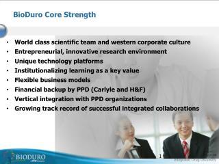 BioDuro Core Strength