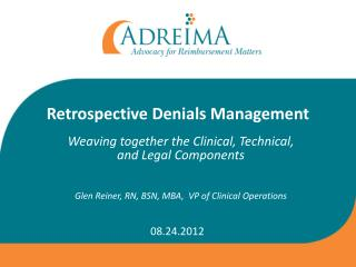 Retrospective Denials Management