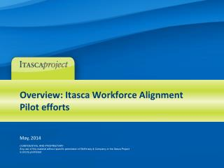 Overview: Itasca Workforce Alignment Pilot efforts