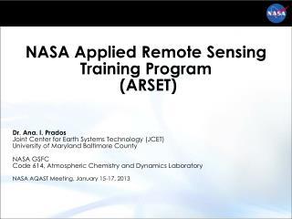 NASA Applied Remote Sensing Training Program  (ARSET)