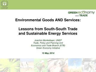 Environmental Goods AND Services: Lessons from South-South Trade  and Sustainable Energy Services