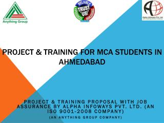Project & Training for MCA students in Ahmedabad