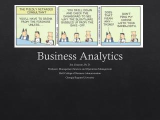 DEMYSTIFYING Business Analytics
