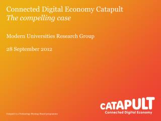 Connected Digital Economy Catapult The compelling case