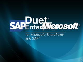 Duet Enterprise Overview