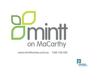 www.mintthomes.com.au    1300 106 200