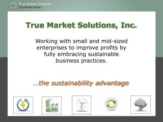Working with small and mid-sized enterprises to improve profits by fully embracing sustainable business practices.