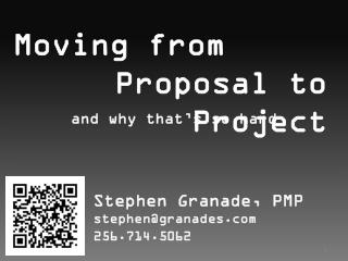 Moving from Proposal to Project