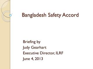 Bangladesh Safety Accord