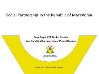 Social Partnership in the Republic of Macedonia