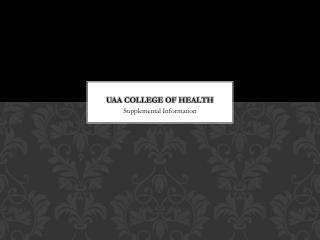 UAA College of Health