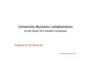 University-Business collaboration at the heart of a modern economy