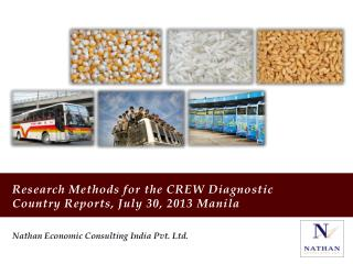 Research Methods for the CREW Diagnostic Country Reports, July 30, 2013 Manila