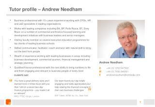 Tutor profile – Andrew Needham