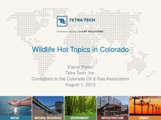 Wildlife Hot Topics in Colorado