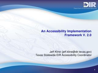 An Accessibility Implementation  Framework V. 2.0