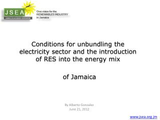 Conditions for unbundling the electricity sector and the introduction of RES into the energy mix