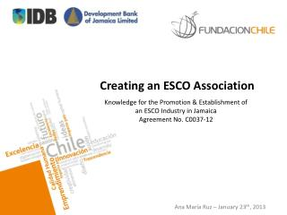 Creating an ESCO Association