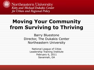 Moving Your Community from Surviving to Thriving