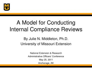 A Model for Conducting  Internal Compliance Reviews