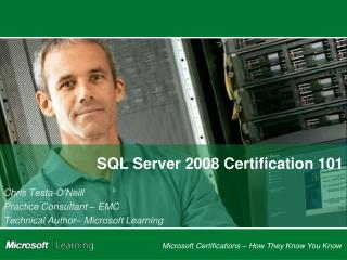 SQL Server 2008 Certification 101