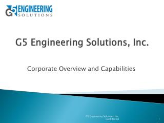 G5 Engineering Solutions, Inc.
