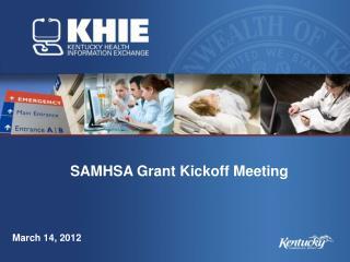 SAMHSA Grant Kickoff Meeting