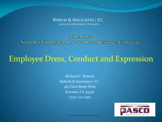 30th  Annual  North  Bay Employment Law & Human Resources  Conference