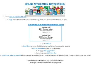 2. Go  apply.   You  will be directed to our careers homepage.  Enter  the CBD Job Number  from the list  below.