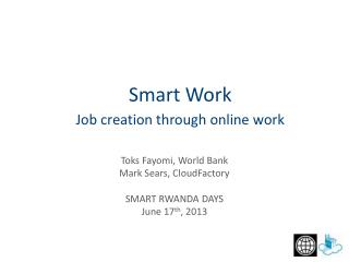 Job creation through online work