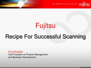 Fujitsu Recipe For Successful Scanning
