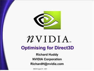 optimising for direct3d