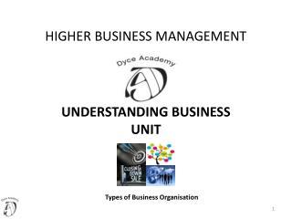 HIGHER BUSINESS MANAGEMENT