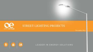 STREET LIGHTING PROJECTS