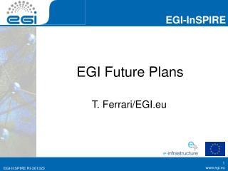 EGI Future Plans