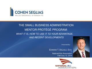 The Small Business Administration Mentor-Protégé Program:
