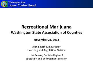 Recreational Marijuana Washington State  Association  of Counties