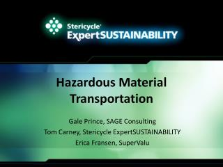 Hazardous Material Transportation