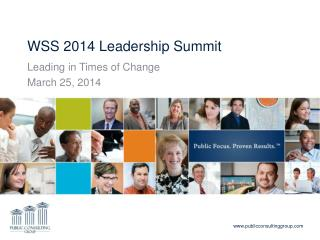 WSS 2014 Leadership Summit