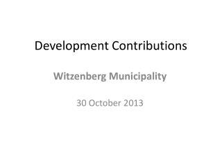 Development Contributions