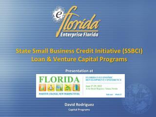 State Small Business Credit Initiative (SSBCI) Loan & Venture Capital Programs