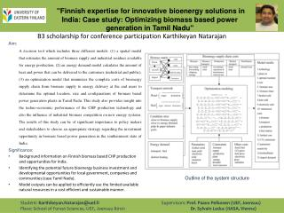 """Finnish expertise for innovative  bioenergy  solutions in India: Case study: Optimizing biomass based power generation"