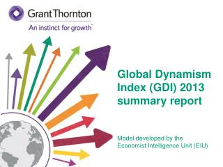 Global Dynamism Index ( GDI ) 2013 summary report