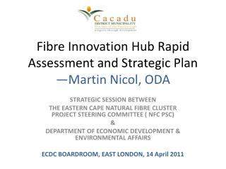 Fibre  Innovation Hub Rapid Assessment and Strategic Plan  —Martin Nicol, ODA
