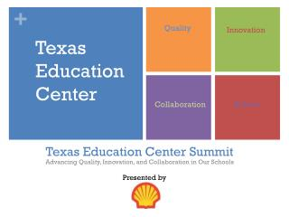 Texas Education Center Summit