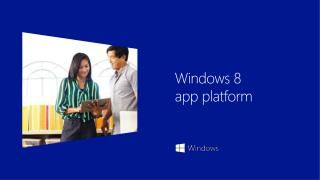 Windows  8  app platform
