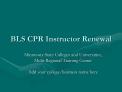 bls cpr instructor renewal